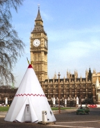 teepee wigwam outside big ben