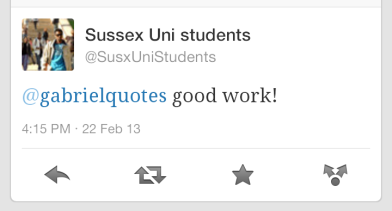 sussex uni twitter