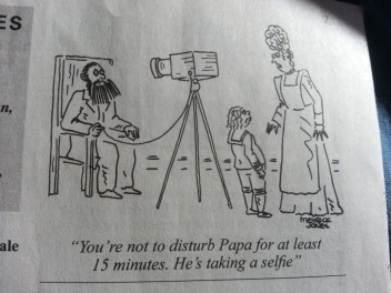 selfie cartoon