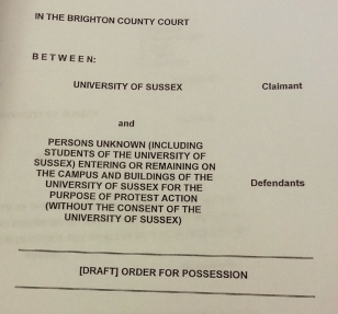 sussex possession order