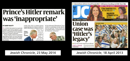 jc hitler headlines