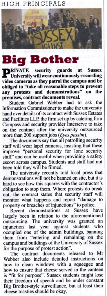 private eye sussex university