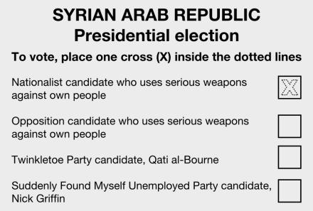 syria ballot paper