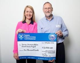 katy bourne giant cheque