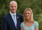 Police commissioner Adam Simmonds and Kathryn Buckle