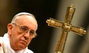 The Pope's pretty cross