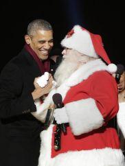 obama father christmas